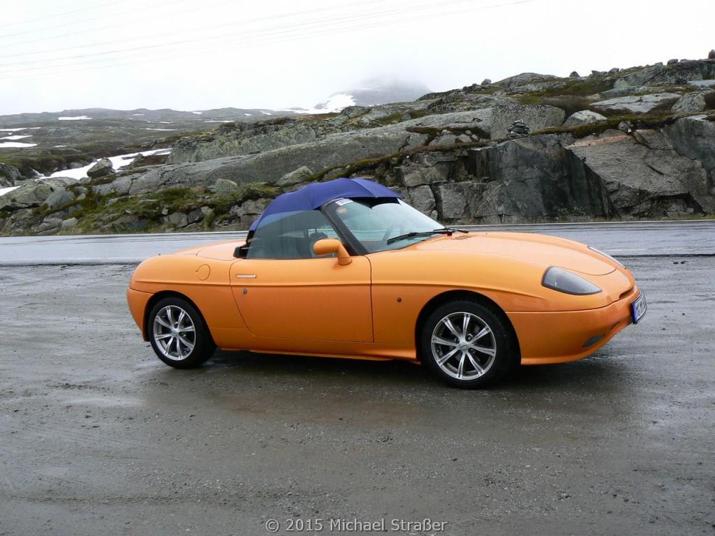 2007 - Norwegen - Regen gab es viel, aber kein Grund das Verdeck zu zu machen!